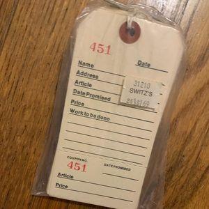 Vintage Card Stock Price Tags